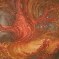 """""""Bud 10"""" Oil Painting"""