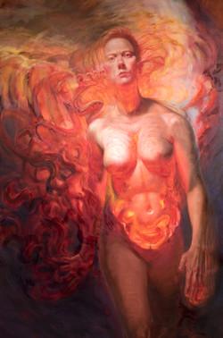 """Nicole Cooper Oil Painting """"Signals"""""""