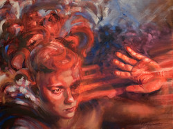 """Nicole Cooper Oil Painting """"Warning Signs"""""""