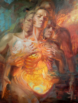 """Nicole Cooper Oil Painting """"Change of Heart"""""""