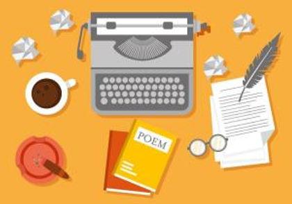 free-writer-workspace-vector-illustratio