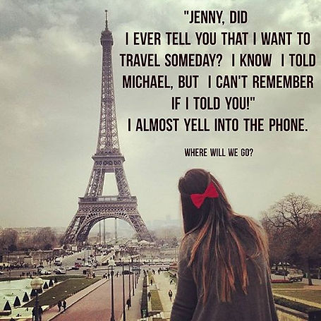 """First line of """"Where Will We Go?"""". ✨🗼.j"""