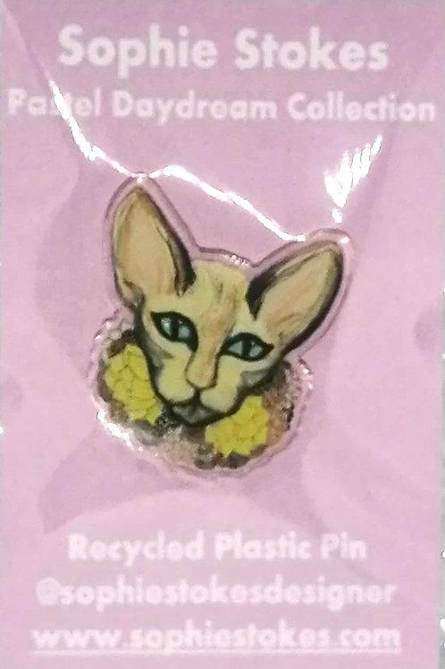 Pastel Cat Pin