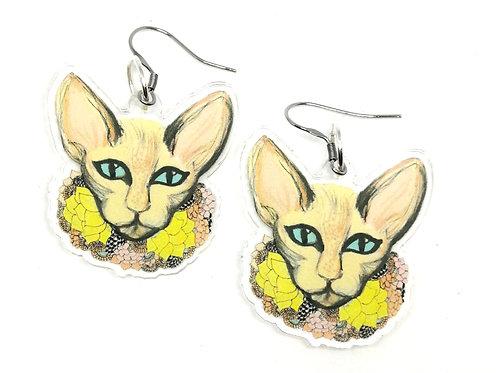 Pastel Cat Earrings