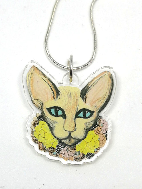 Pastel Cat Necklace