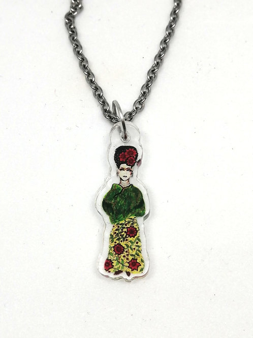 Frida Yellow Rose Necklace