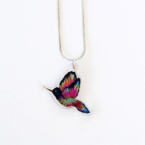 Statement Rainbow Hummingbird Necklace