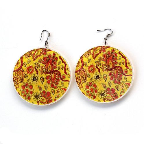 Lisa Marie Paisley Circle Earrings