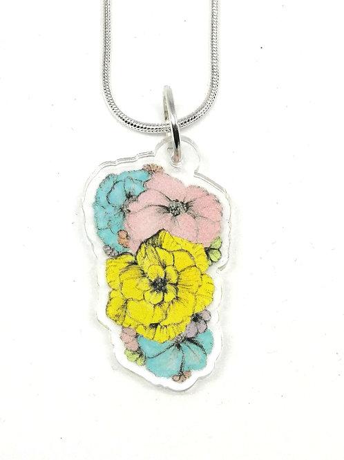 Flower Cluster Necklace