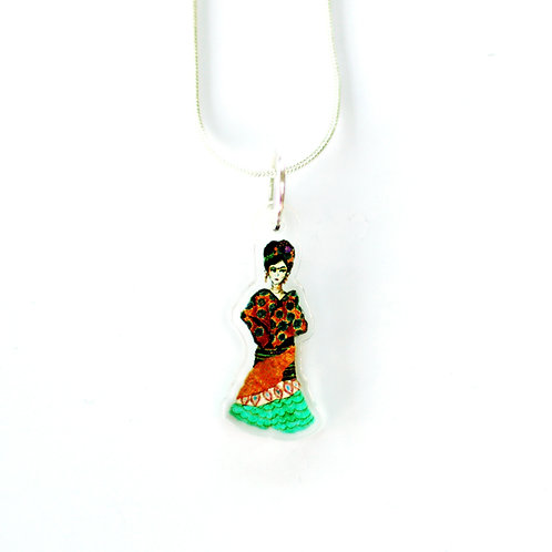 Frida Orange Necklace