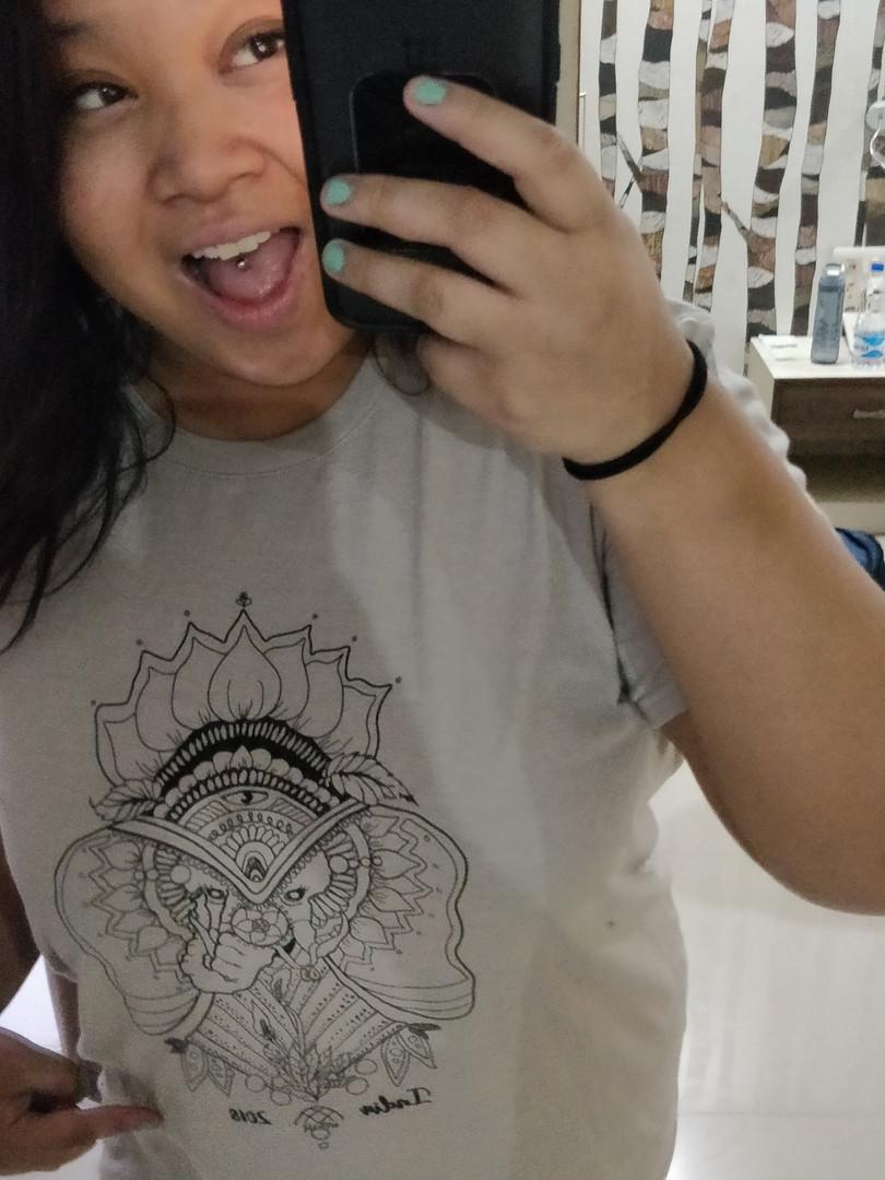 Happy to get a Tshirt