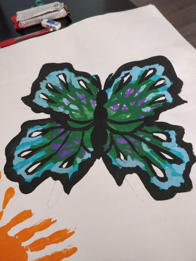 Hand Print Butterfly