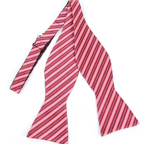 Hot Pink Silk Woven Freestyle Bow Tie