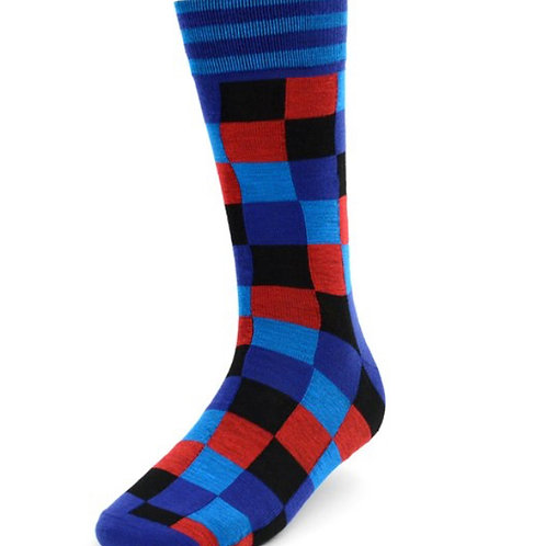 Men's Red Casual Fancy Socks