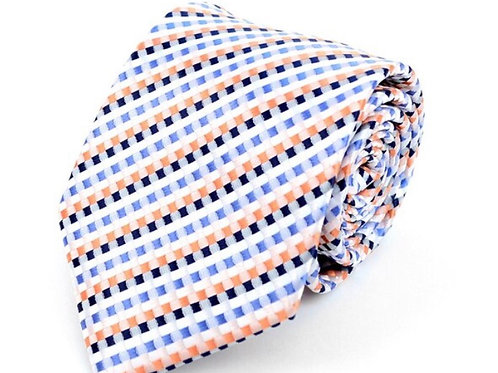 White Dots Microfiber Poly Woven Tie