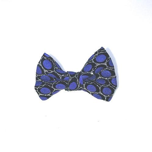 Purple Ikat Poly Bow Lapel Pins