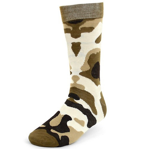 Camouflage Men's Taupe Casual Fancy Socks