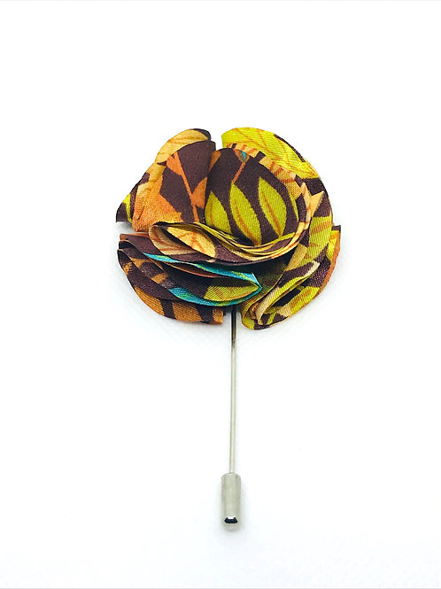 Floral Poly Flower Lapel Pin