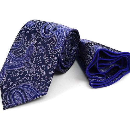 Purple Paisley Tie & Matching Pocket Round Set