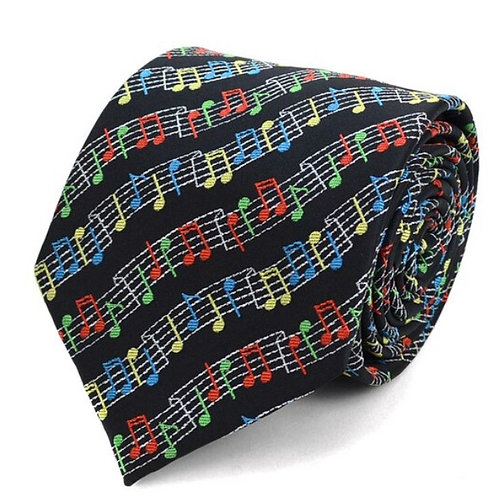 Music Note Novelty Tie
