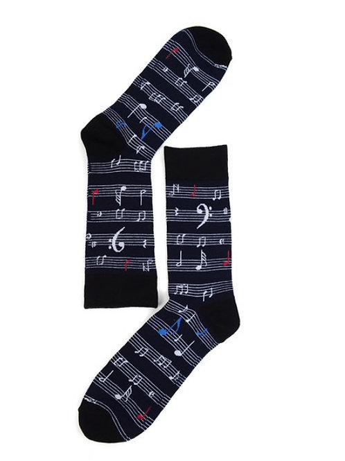 Men's Music Sheet Note Novelty Socks