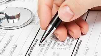 Medical intake form for initial intake appointment