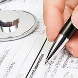 Medische vorm met stethoscoop
