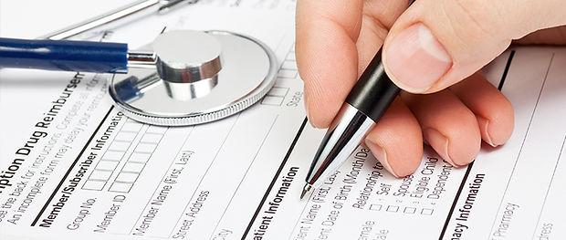 Medizinische Form mit Stethoskop