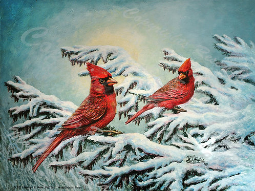 PRTGLP385-Redbirds in Pines
