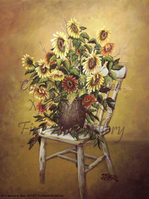 PRTGLP-377-Sunflowers & Chair