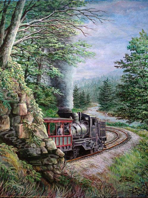 PRTGLP419-Cass Train Heading up Mountain