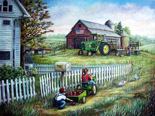 PRTOE649-Farm and John Deere Tractor