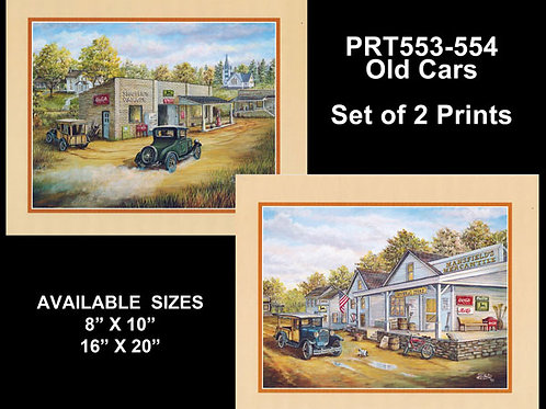 PRTOE553-554  Antique Vehicles