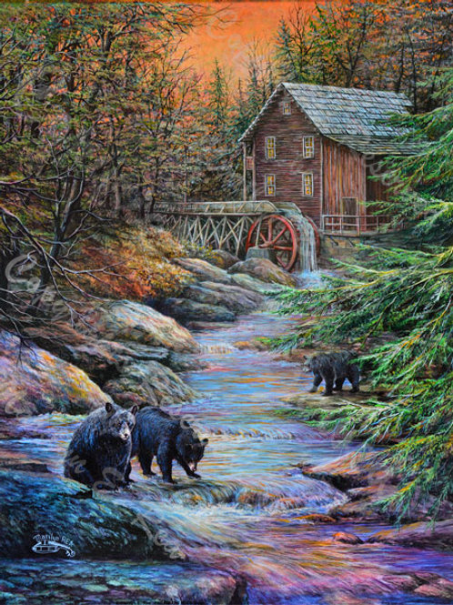 PRTGLP458-Old Mill And Bears