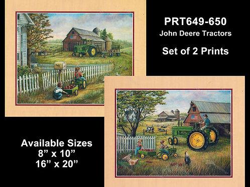 PRTOE649-650  John Deere Tractors