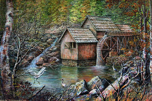 PNT764-Mountain Mill & Cranes