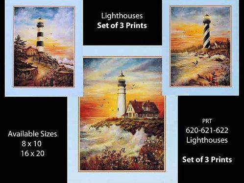 PRTOE620-621-622  Lighthouse Scenes