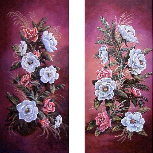 PRTOE562-Magnolias Left & Right