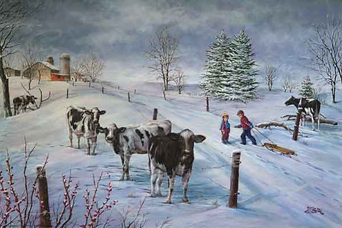PRTGLP342-Kids and Cows Watching You