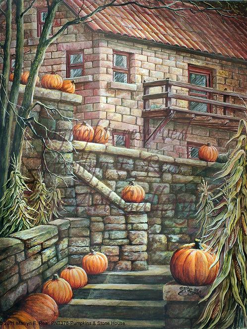 PNT378-Stairs & Pumpkins