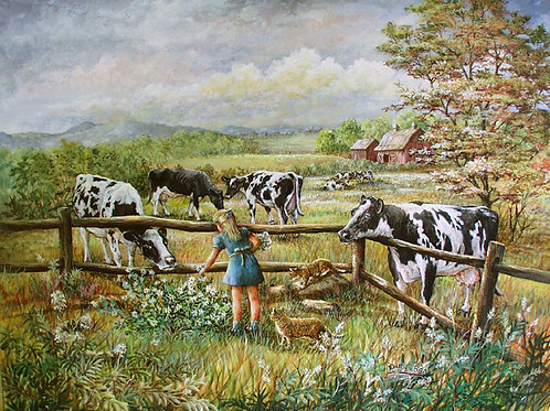 PRTOE632-Picking Flowers and Cows