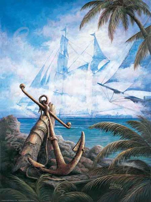 PRTGLP268-Anchor and Tall Ships