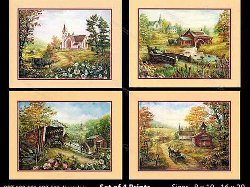 PRTOE590-591-592-593  Nostalgia Scenes