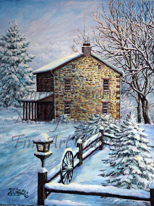 PRTGLP449-Lancaster Stone House In Winter