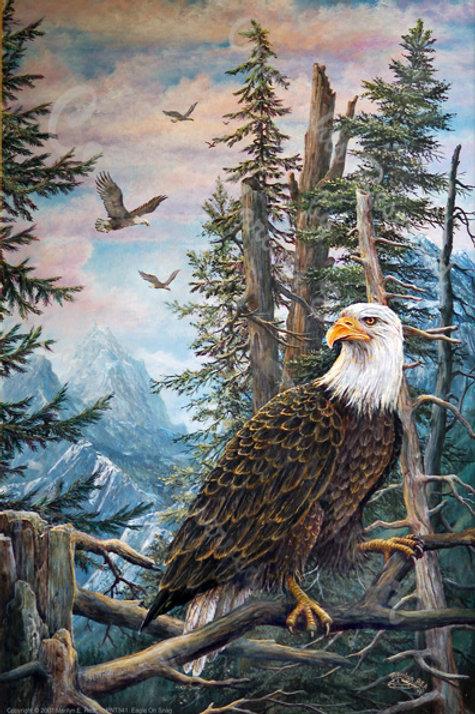 PRTGLP341-Eagle on Snag