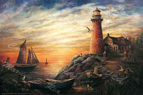 PRTGLP258-Sunset at the Lighthose