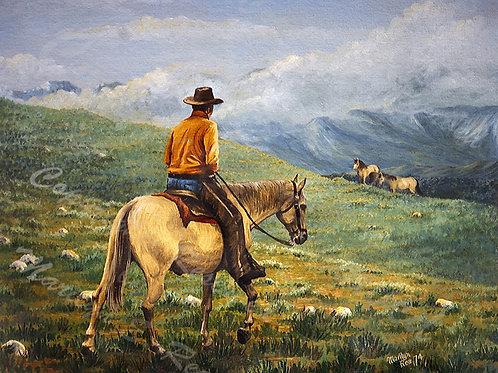 PRTGLP199-Cowboy in Montana