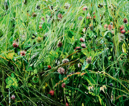 """Wild Grasses with Bumblebees"""