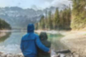 Couple Looking at Landscape