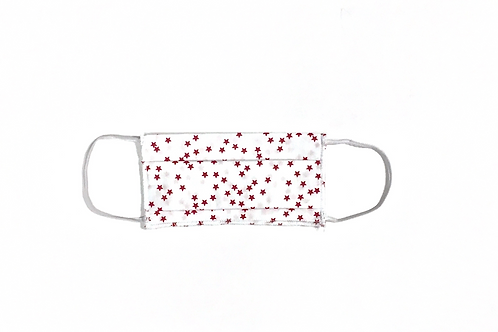 Masque Etoiles rouge/blanc
